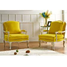 impressive on yellow accent chair antoinette traditional classic antiqued french yellow accent chair