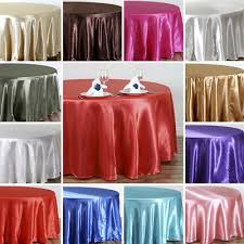 15 packs 120 inch round satin tablecloth wedding 25 color 5 ft table usa