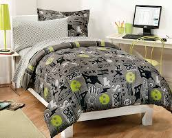 twin beds for teen boys. Modren Beds Black Gray Skateboard Bedding Teen Boy Twin Or Full Comforter Set Intended  For Stylish Home Childrens Plan In Beds Boys N