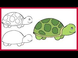 Small Picture How to Draw a Turtle Easy Simple Step by Step for Kids and