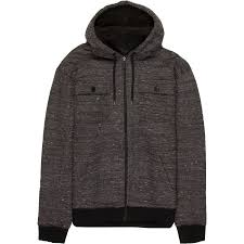 stoic sherpa lined full zip hoo men s charcoal