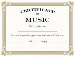 Formal Certificates Instrumental Music Certificates Formal By Sillyomusic Tpt