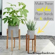West Elm Inspired DIY Plant Stands