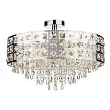 decorative modern flush ceiling light with chrome crystal decoration for recent modern chandeliers for low