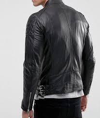 mens stylish black leather jacket