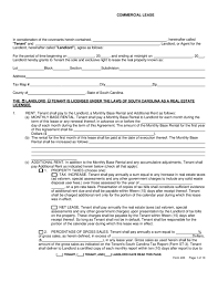 South Carolina Commercial Lease Agreement | LegalForms.org