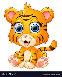 cute animated baby tigers. Interesting Baby Cute Baby Tiger Cartoon Vector Image Throughout Animated Baby Tigers