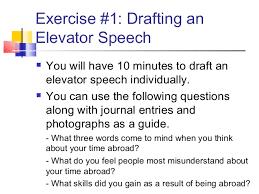 Elevator Speech Draft Term Paper Sample 2127 Words