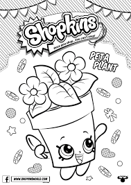 Small Picture Shopkins Coloring Pages Season 4 Peta Plant printables