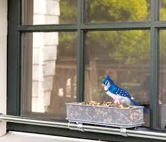 window sill bird feeder