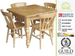 Pine Kitchen Table And Chairs Traditional 3ft X 3ft Pine Beech Farmhouse Dining Table 4