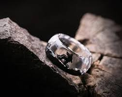 <b>Jewelry</b> made of <b>wood</b> and <b>resin rings</b> earrings от StoreGreenWo…