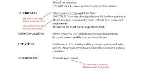 Acceptable Resume Fonts Education Section On Resume