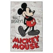 mickey classic red 5 ft x 7 ft indoor juvenile area rug