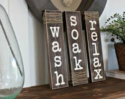 Decorative Bathroom Signs Home Rustic Bathroom Sign Etsy 85
