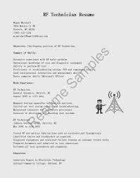 Electronic Technician Resume Objective | Resume For Study