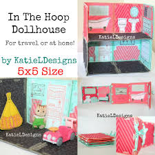 ITH X Dollhouse Set Machine Embroidery Design Pattern Download - Home machine embroidery designs