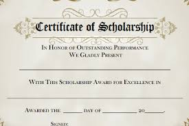 certificate of recognition templates 9 scholarship certificate templates free word pdf format