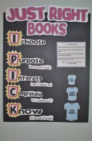 Just Right Book Chart Just Right Books Anchor Chart Printables