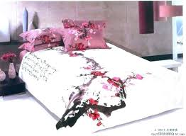 cherry blossom bedding cherry blossom comforter set medium image for painting plum blossom cotton bedding set