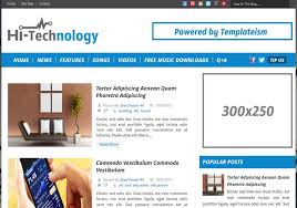 free template blogger. Hi Tech Blogger Template 2014 Free Download