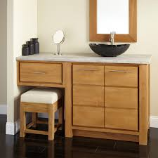 Teak Vanity Bathroom Master Bath With Double Vanity Makeup Vanity Traditional Bathroom