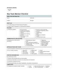 New Employee Orientation Checklist Template Background Screening