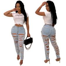 Hi Street Front Back Ass Hole Ripped Jeans For Women High Waist Distressed  Jeans Woman Skinny Push Up Jeans Cut Out Denim Pants   Shopee Philippines
