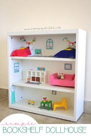 inexpensive dollhouse furniture. Simple Bookshelf Dollhouse | Mama Papa Bubba Inexpensive Furniture