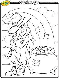 Small Picture Leprechauns Pot of Gold Coloring Page crayolacom