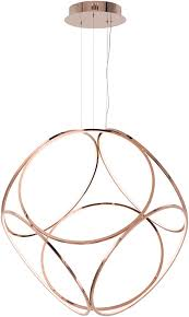 et2 e22128 rg form modern rose gold led 45 pendant hanging light et e22128 rg