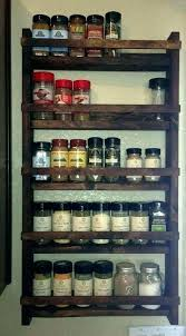 Wooden Spice Rack Wall Mount Awesome Wall Spice Cabinet Spice Rack Wood Spice Rack Handmade 32 Shelf