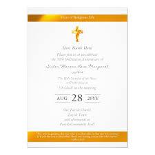 Ordination Invitation Template Nun Ordination Anniversary Invitations Golden