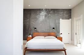 interior design bedroom modern. Exellent Modern View In Gallery Custom Wall Mural Creates A Sense Of Harmony The Contemporary  Bedroom Design Kari Inside Interior Design Bedroom Modern