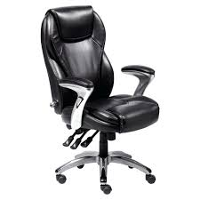 fully adjustable office chair. Amazing Perfect Executive Office S Black Leather Upholstery Padded Intended For Fully Adjustable Style Chair N