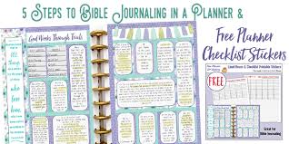 Planner 5 5 Steps To Bible Journaling In A Planner Free Planner Checklist