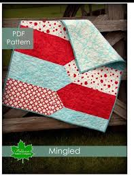 863 best Hilary's Choices images on Pinterest | Mini quilts ... & PDF Quilt Pattern - Mingled- fresh and modern baby quilt and our original  design Adamdwight.com