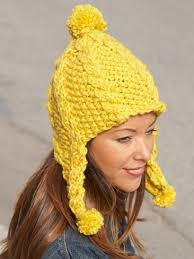 Earflap Hat Knitting Pattern Enchanting Knitting Patterns Galore Golden Glow Earflap Hat