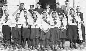 at least aboriginal children died in residential schools  residential school students at confirmation class at st john s n residential school in wabasca
