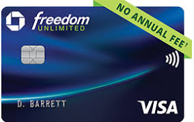 chase freedom unlimited registered trademark credit card no annual fee dagger