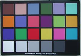 Olympus Colour Check Chart Macbeth Colorchecker Rendition