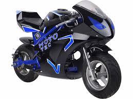 mototec gas pocket bike gt 49cc 2 stroke blue sport mini motorcycle
