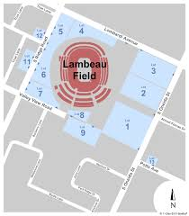 Detailed Seating Chart For Lambeau Field Parking Green Bay Packers Vs Washington Redskins Tickets