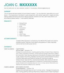 Best Legal Secretary Resume Example LiveCareer Fascinating Secretary Duties Resume