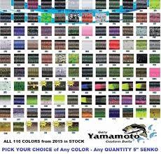 gary yamamoto senko 5 inch stick bait soft plastic worm 116 colors any 9 10 pack