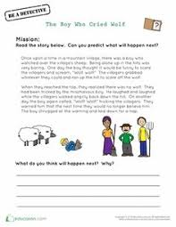 Small Picture The boy who cried wolf worksheet Free printable worksheet well