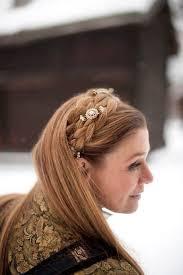 bunad norwegian national costume and beautiful hair braid