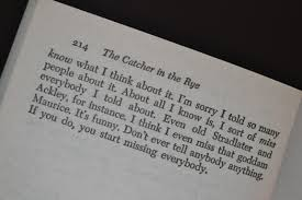 last page of catcher in the rye a writer s world last