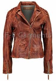 details about women s distressed antique brown cafe racer vintage biker leather jacket