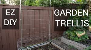 Rope Trellis Designs Easiest Cheapest Diy Trellis For Cucumbers Beans Other Plants Using Emt Conduits Cattle Panel